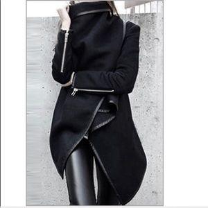 Black Wrap Stylish Coat